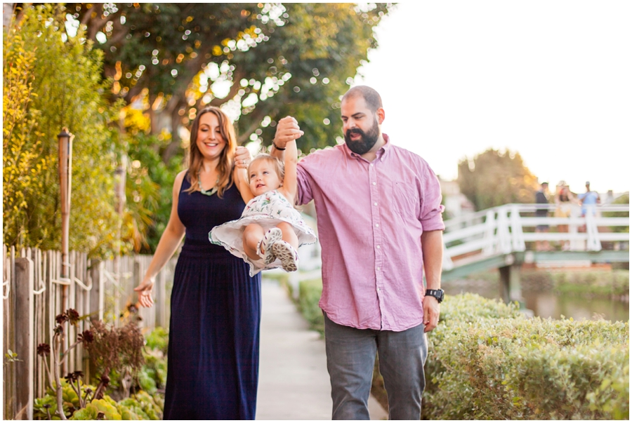 Modern Family Portraits at the Venice Canals by Just Maggie Photography - Los Angeles Family Photographer