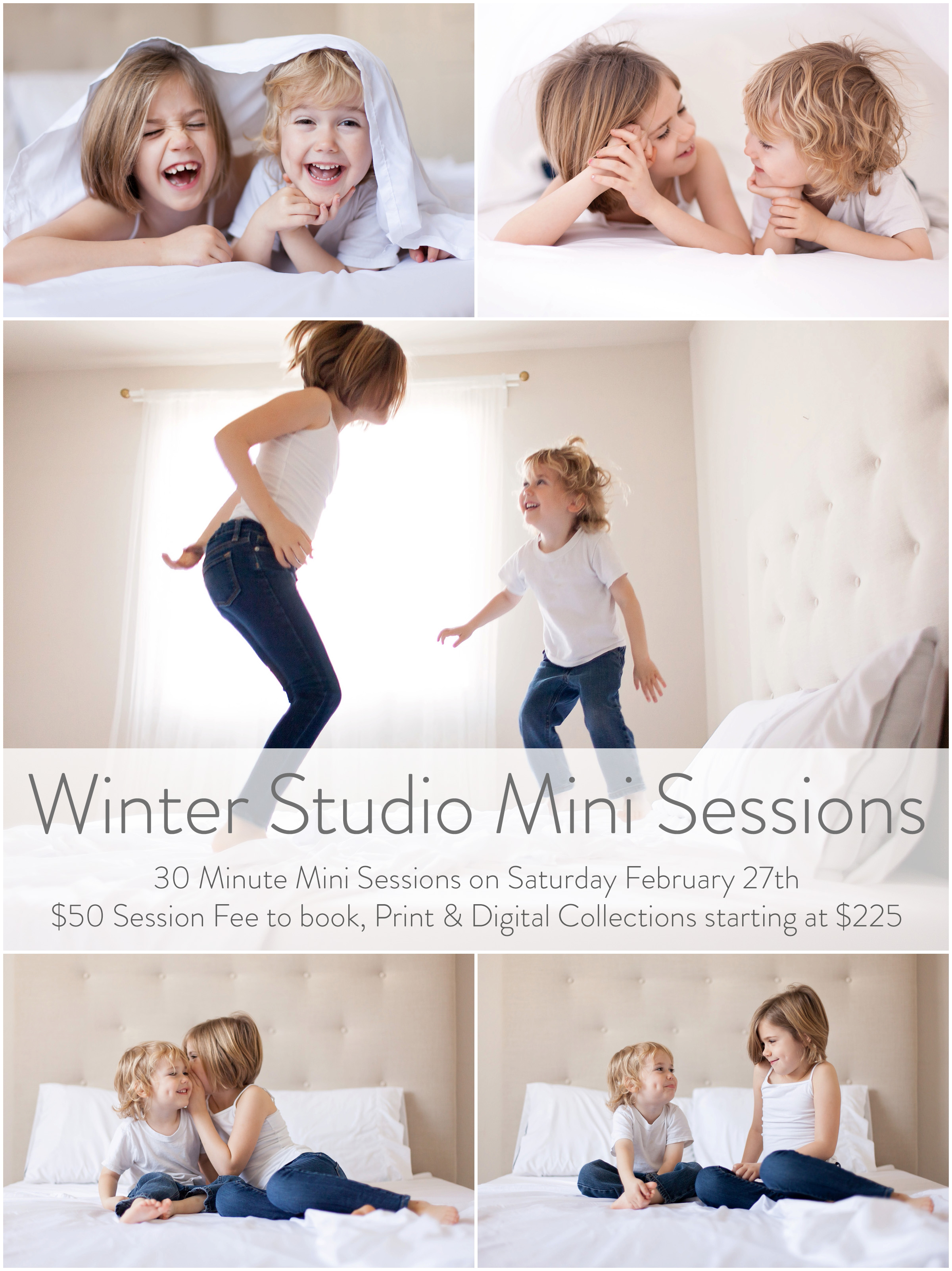 Winter Studio Mini Sessions by Just Maggie Photography - Los Angeles Family Photographer