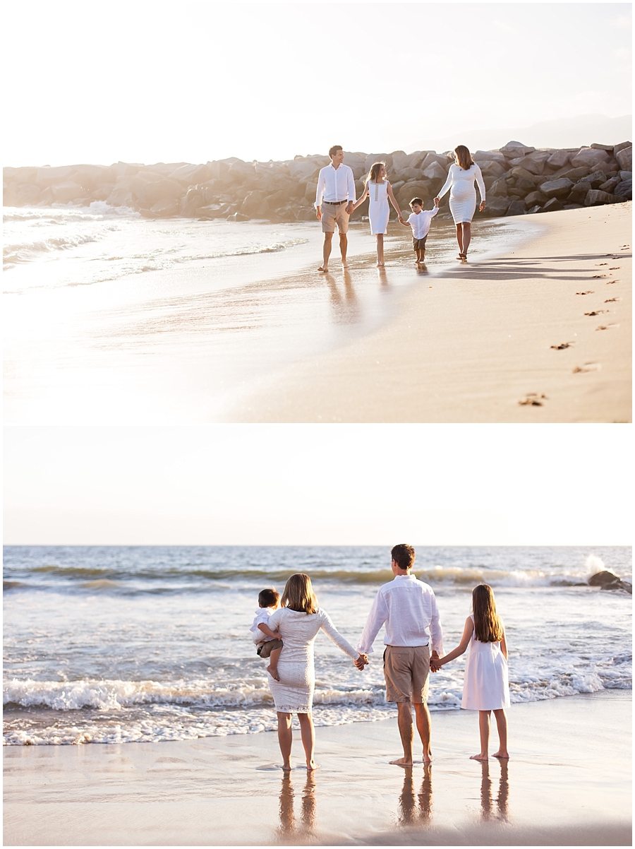 Family Beach Portraits by Just Maggie Photography - Los Angeles Family Photographer