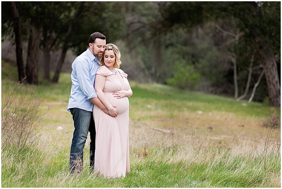 Couple's Romantic Outdoor Maternity Portraits by Just Maggie Photography -- Los Angeles Maternity and Newborn Photographer