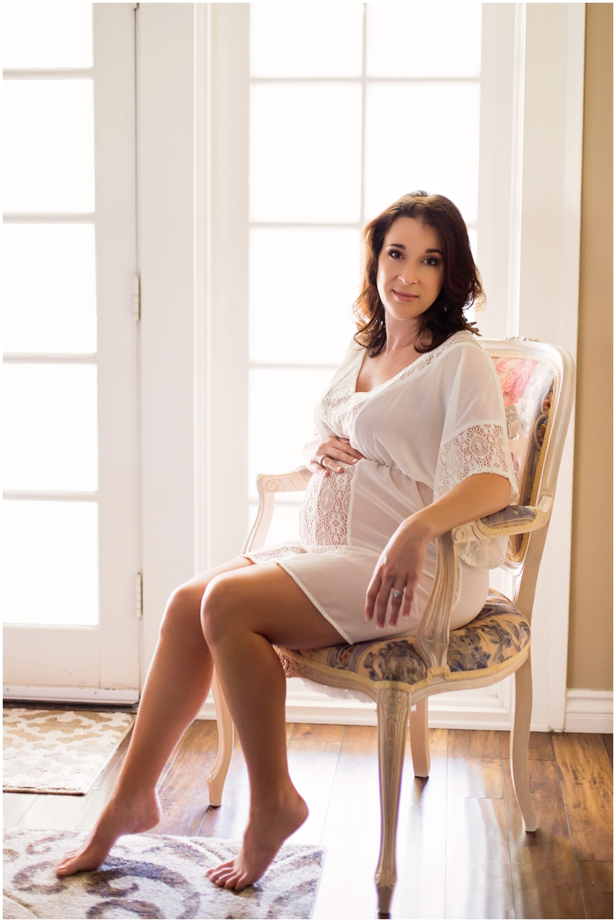 Intimate Maternity Portraits at Home by Just Maggie Photography -- Los Angeles Maternity and Newborn Photographer