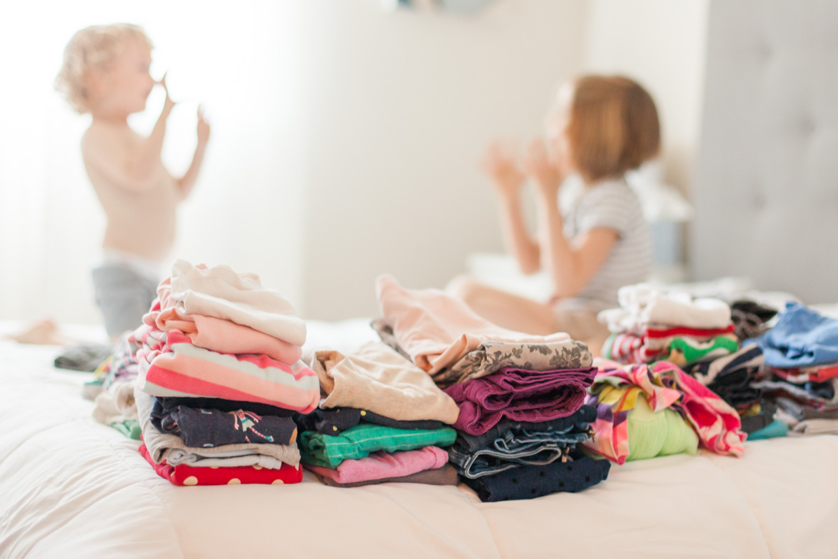 52 Moments - A Photo Challenge for Moms by Just Maggie Photography - Week 12 Laundry