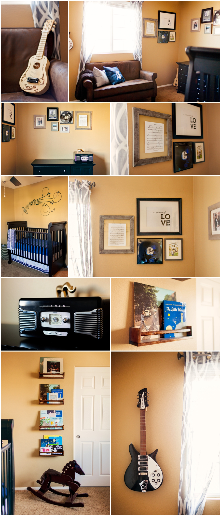 Newborn baby boy nursery by Just Maggie Photography -- Los Angeles Maternity and Newborn Photographer