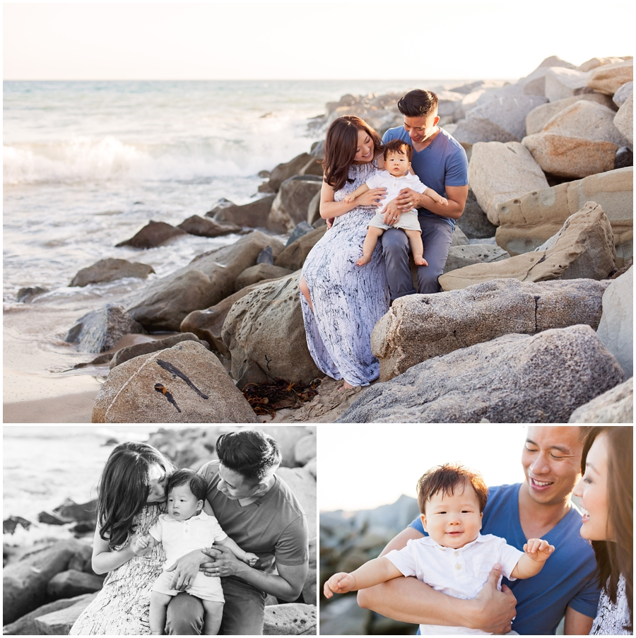 9 Month Old Baby and Family at the Beach by Just Maggie Photography - Los Angeles Baby Photographer