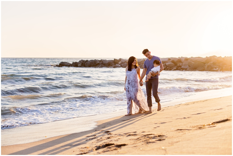 Baby and Family Portraits at the Beach by Just Maggie Photography - Los Angeles Baby Photographer
