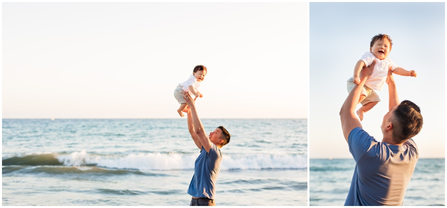 Baby and Dad at the Beach by Just Maggie Photography - Los Angeles Baby Photographer