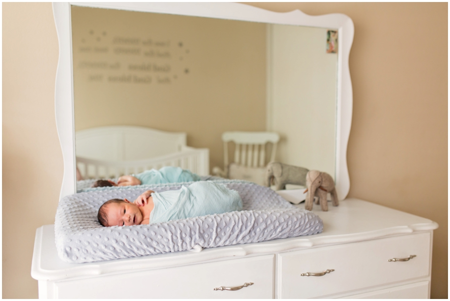 Classic Newborn Portraits in the Nursery by Just Maggie Photography -- Los Angeles Maternity and Newborn Photographer