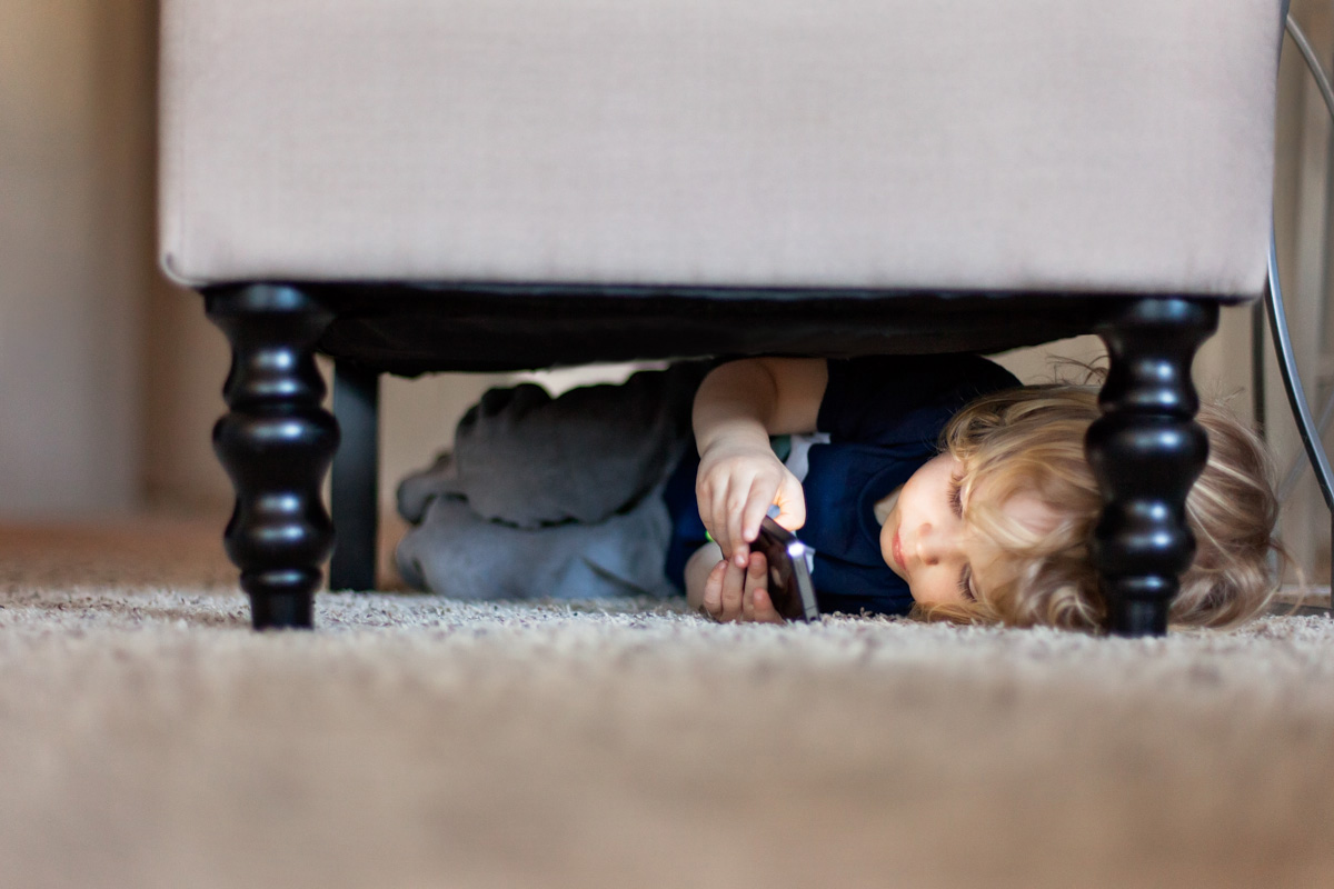 52 Moments - A Photo Challenge for Moms by Just Maggie Photography - Week 16 HIDING