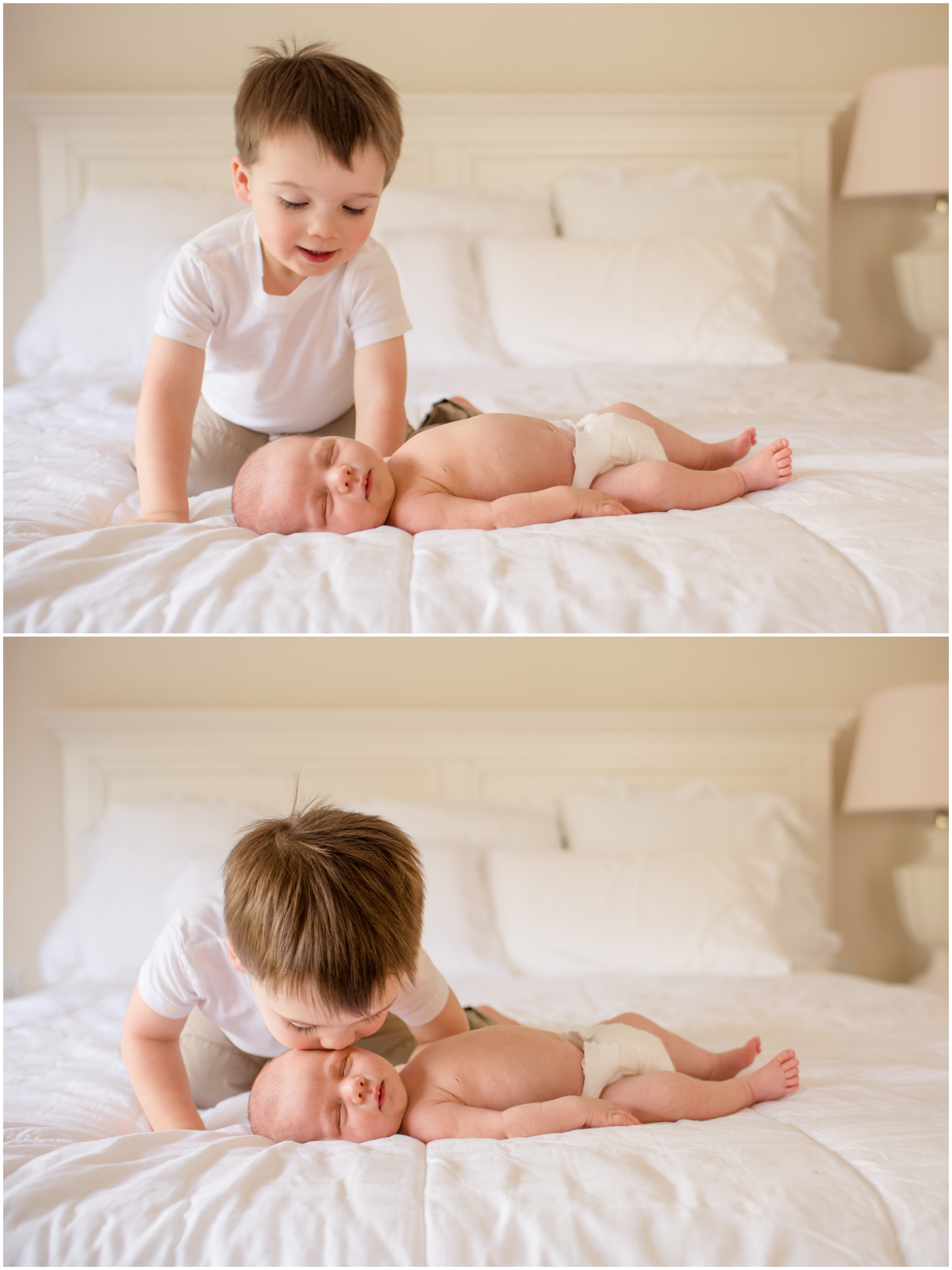 Lifestyle Newborn with Sibling by Just Maggie Photography - Los Angeles Newborn Photographer