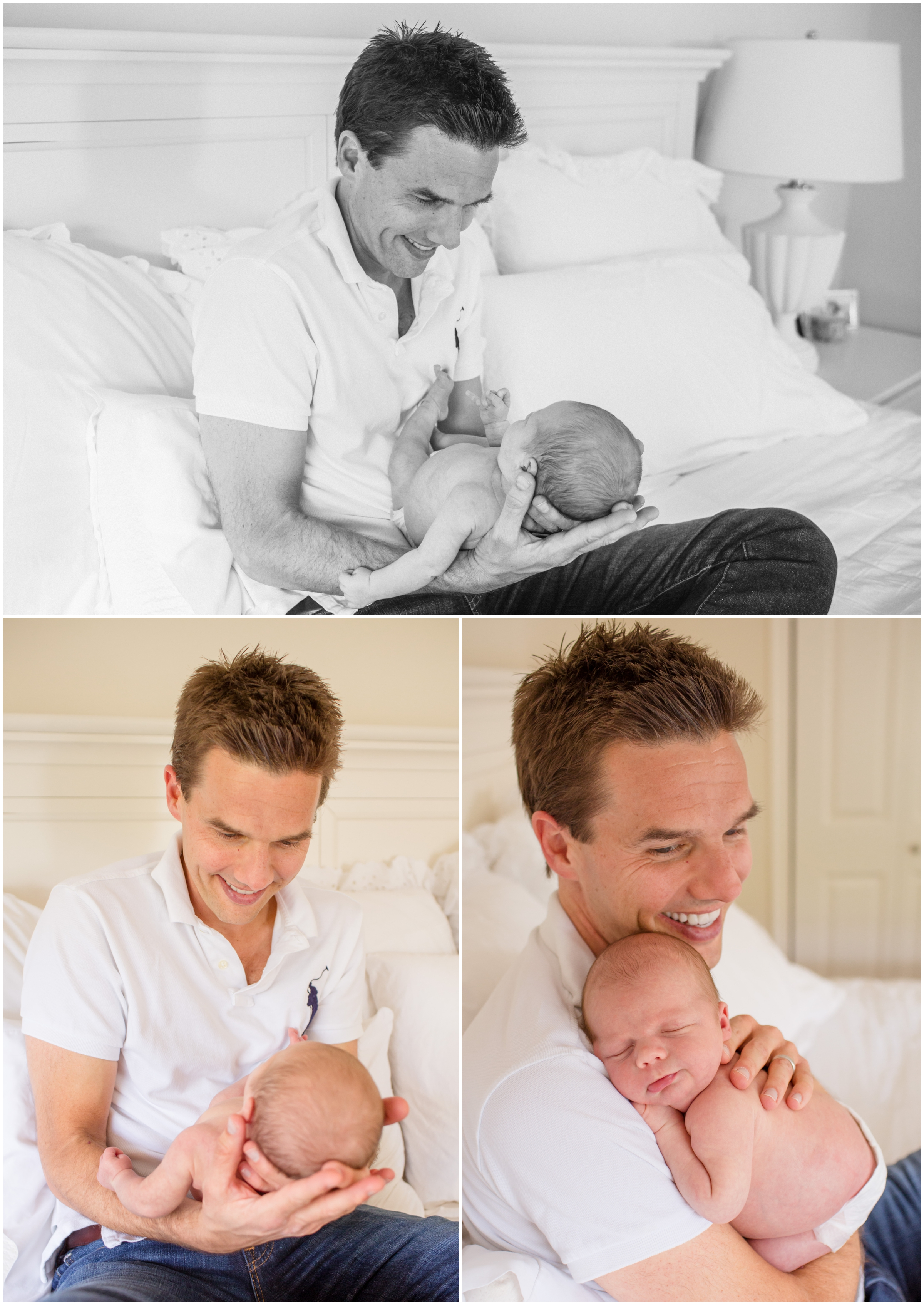 Lifestyle Newborn with Dad by Just Maggie Photography - Los Angeles Newborn Photographer