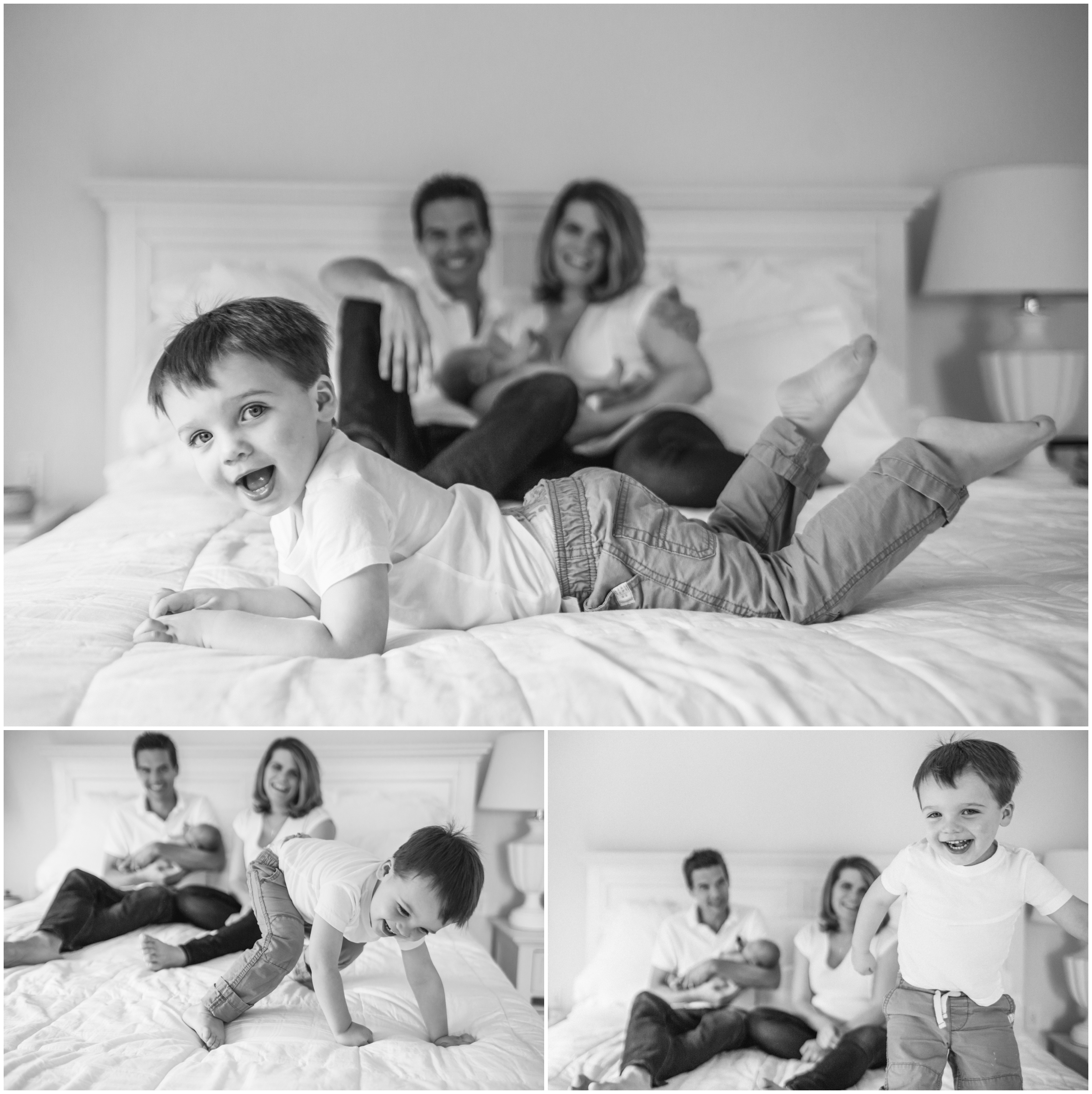 Lifestyle Newborn with Family by Just Maggie Photography - Los Angeles Newborn Photographer
