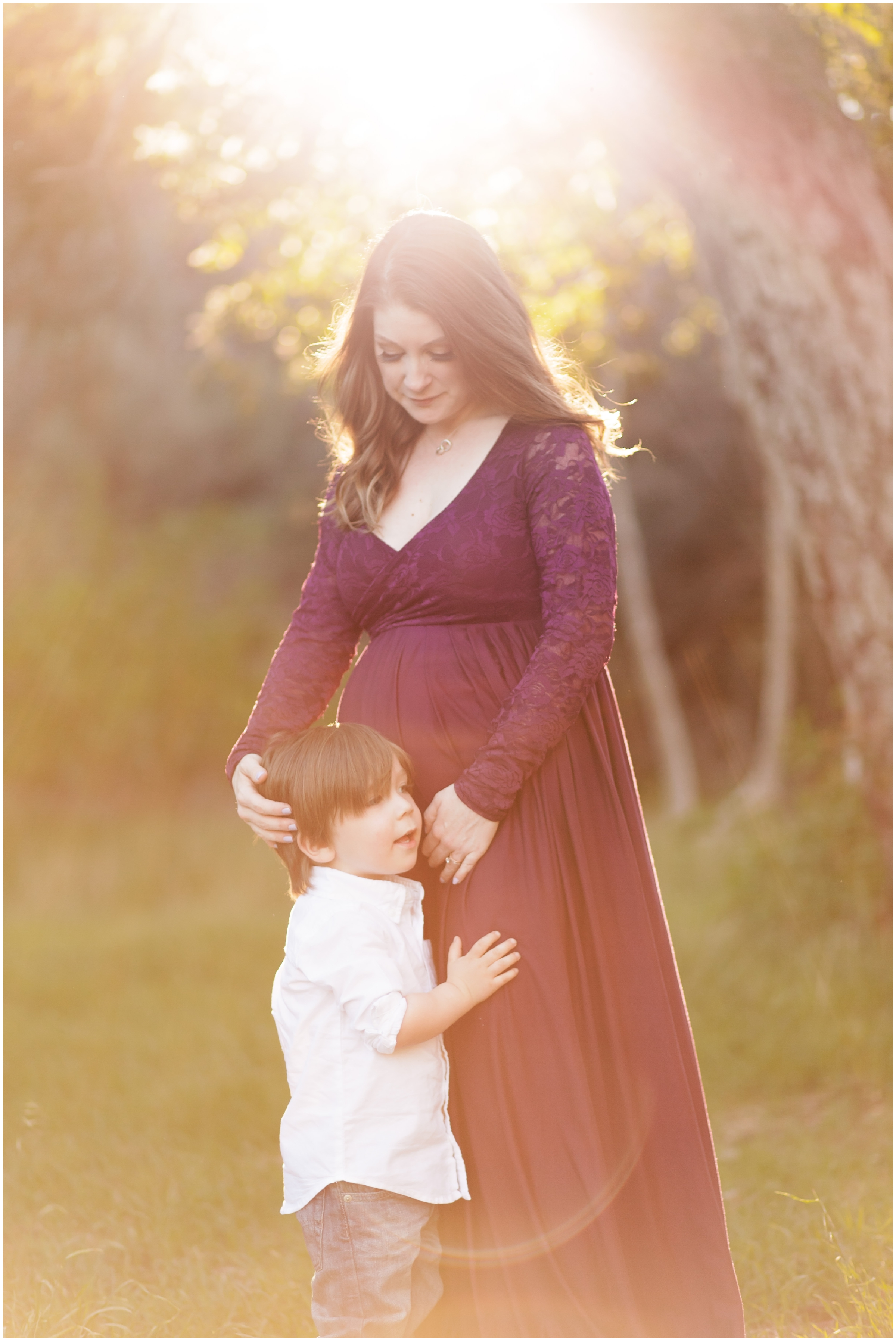 Family Maternity Portraits by Just Maggie Photography - Los Angeles Maternity and Newborn Photographer