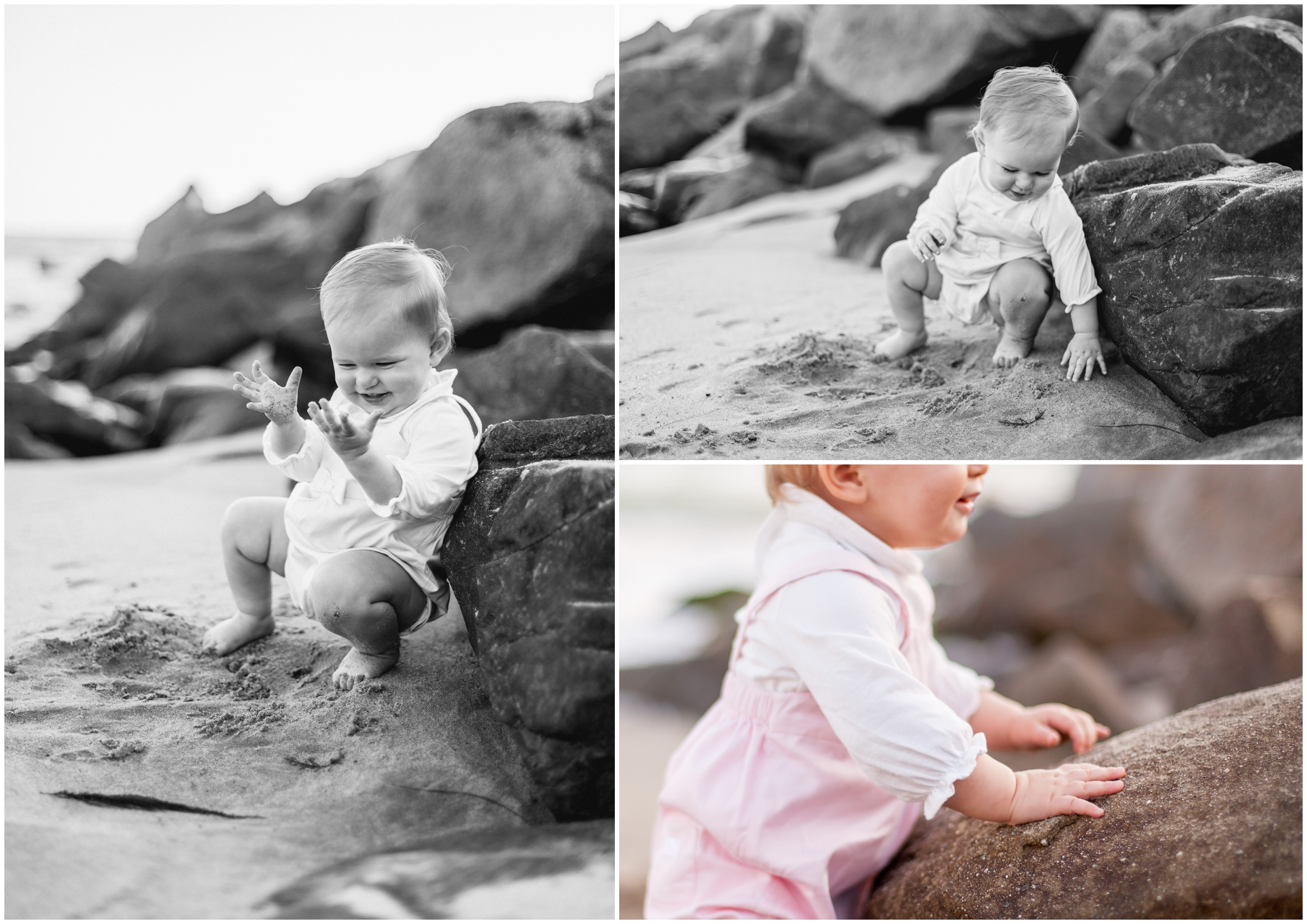 One Year Old Baby Portraits at the Beach by Just Maggie Photography - Los Angeles Baby and Family Photographer