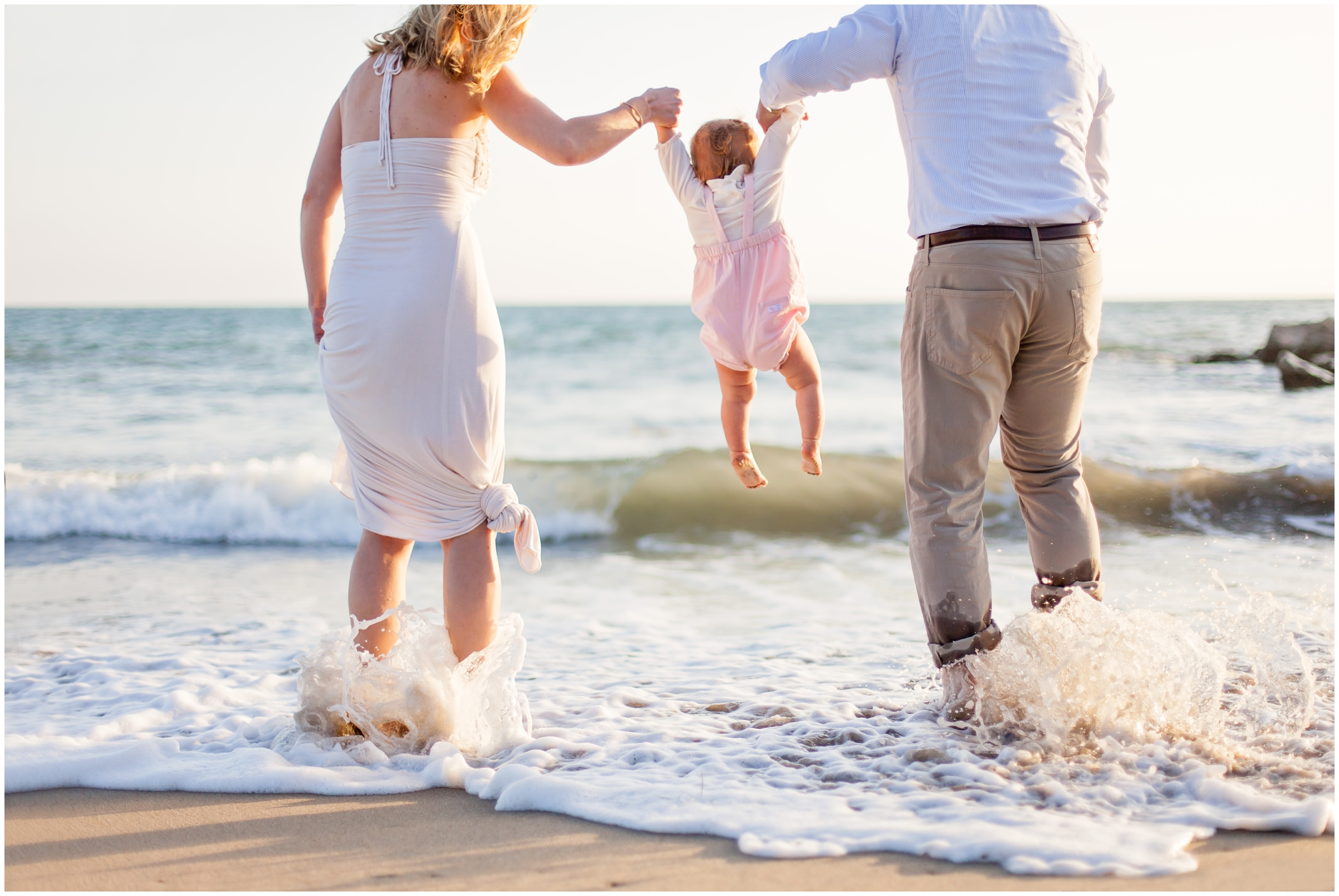 Family Portraits at the Beach by Just Maggie Photography - Los Angeles Baby and Family Photographer