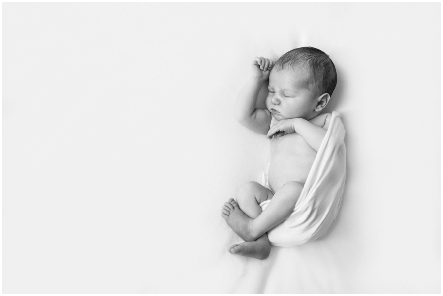 Sleeping Newborn Boy Studio Portraits by Just Maggie Photography -- Los Angeles Maternity and Newborn Photographer