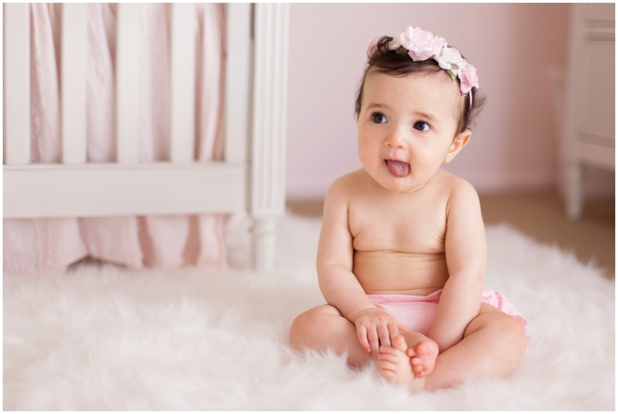 Natural light baby portraits at home by just maggie photography los angeles baby photographer