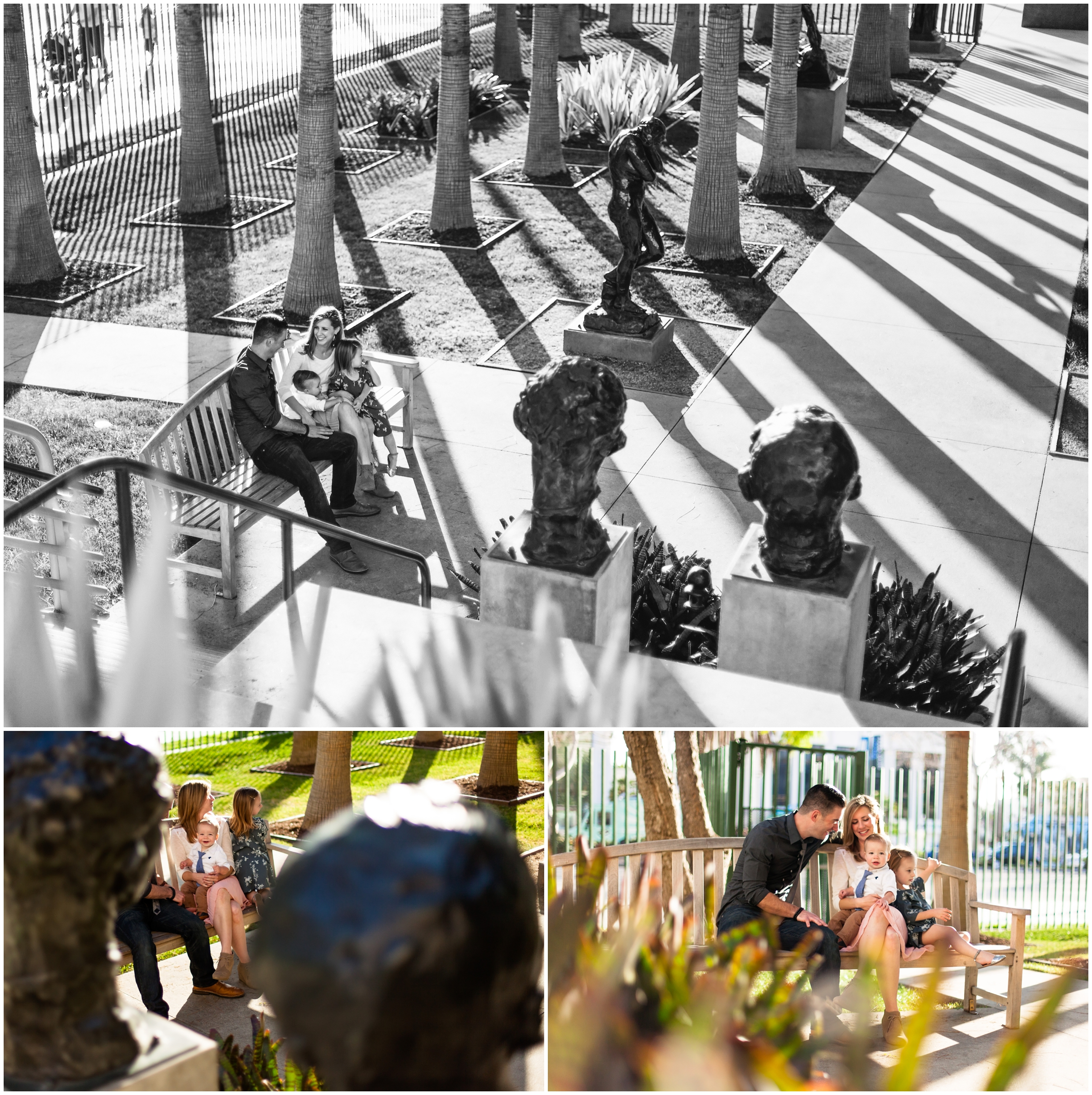 Family Portraits at LACMA Sculpture Garden by Just Maggie Photography - Los Angeles Family Photographer