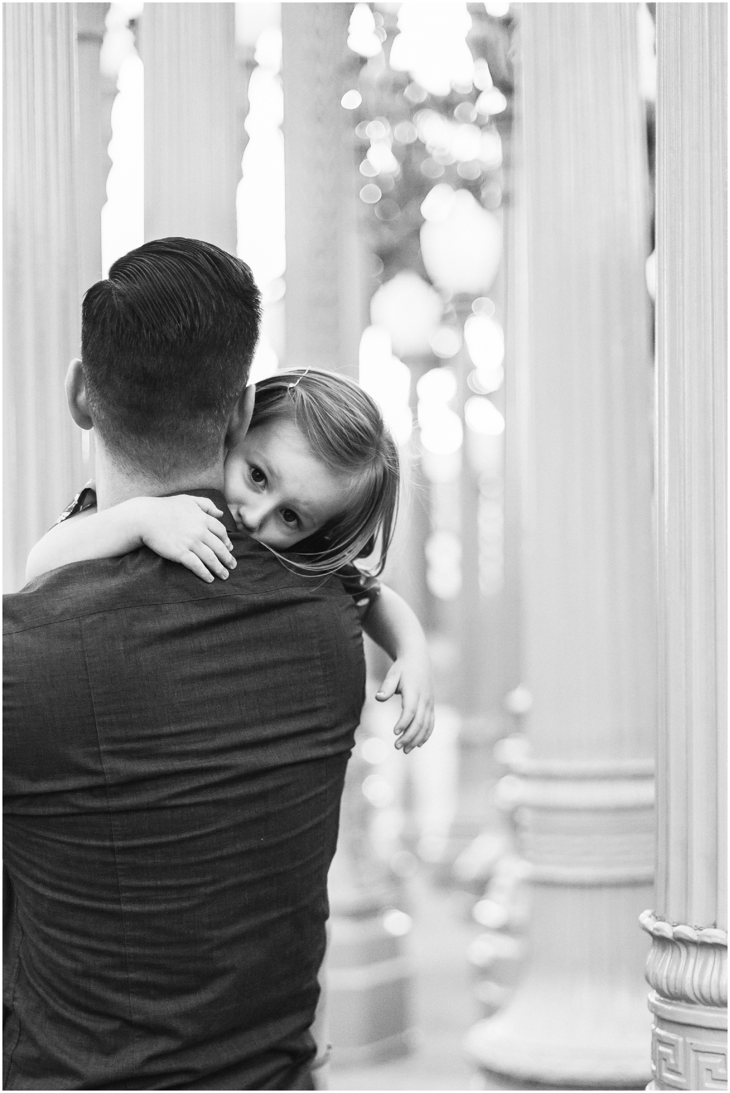 Dad and Daughter at LACMA Lightposts by Just Maggie Photography - Los Angeles Family Photographer