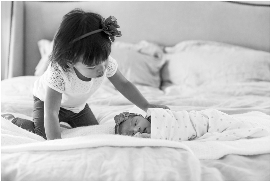 Precious Sibling Portraits Indoors with Natural Light by Just Maggie Photography -- Los Angeles Maternity and Newborn Photographer