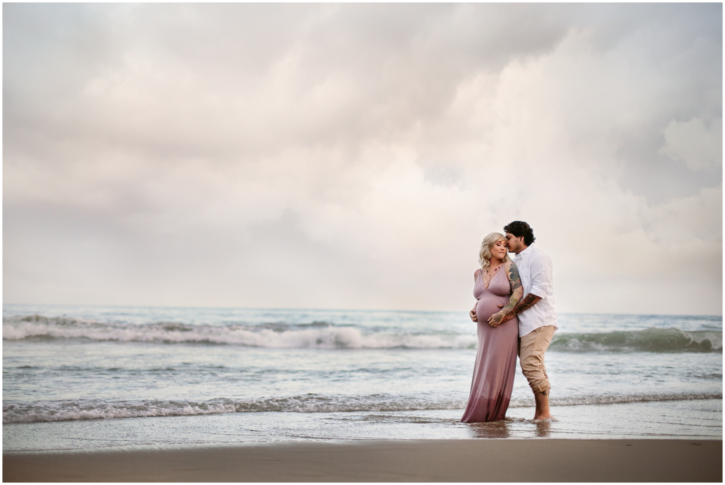 Moody Maternity Portraits on the beach by Just Maggie Photography - Los Angeles Maternity & Baby Photographer