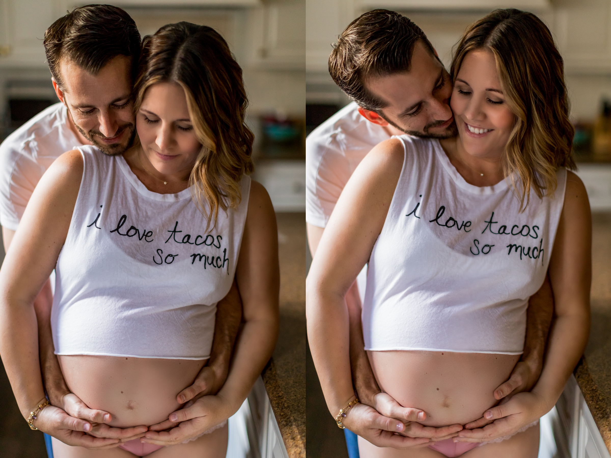 Lifestyle Maternity Portraits in Kitchen by Just Maggie Photography - Los Angeles Maternity and Newborn Photographer