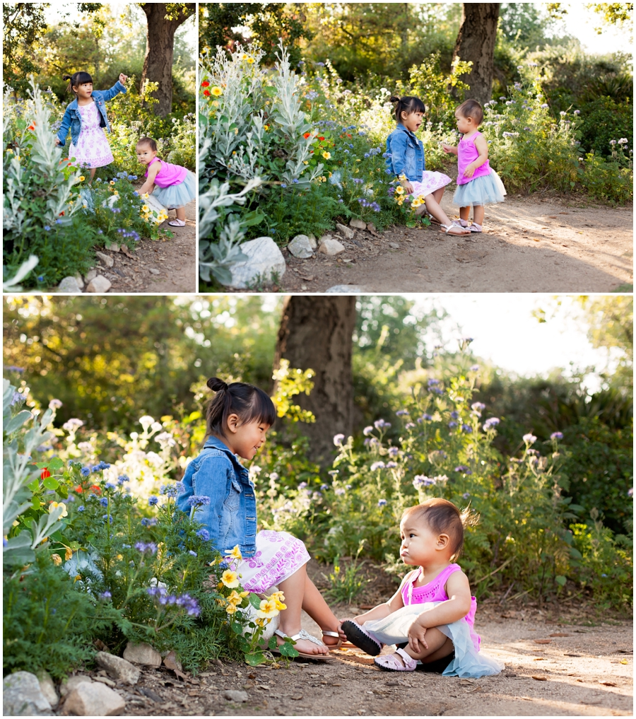 One Year Old with her sister by Just Maggie Photography - Los Angeles Baby Photographer