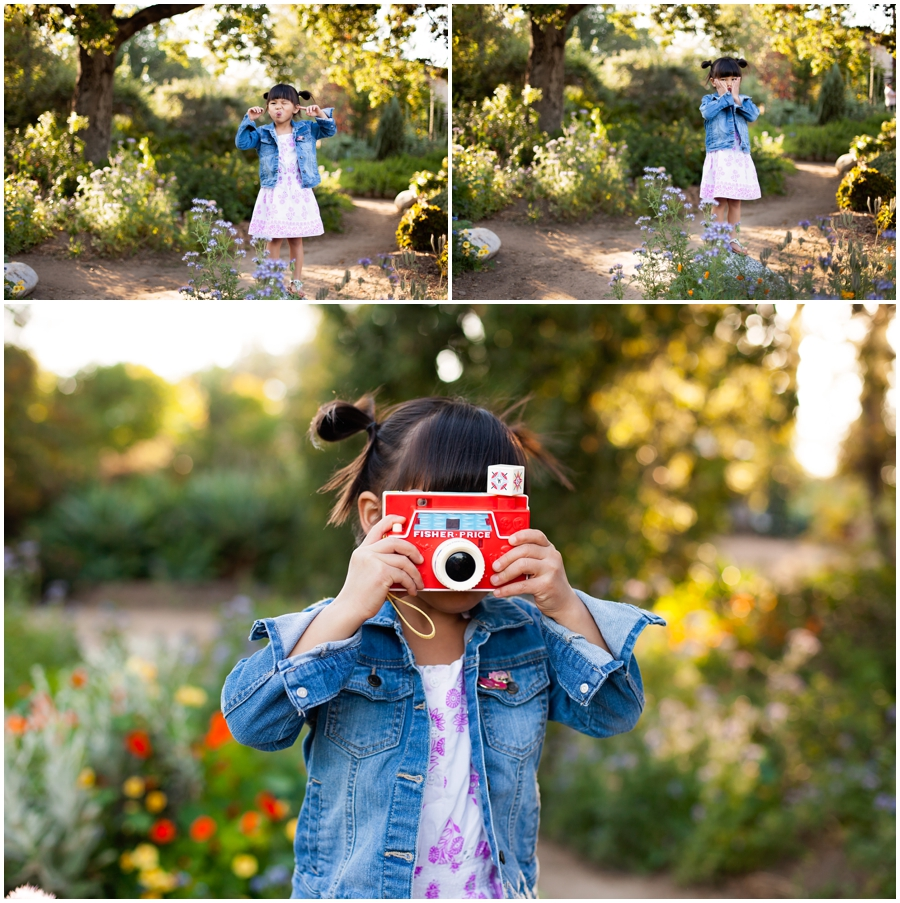 Little girl with a camera by Just Maggie Photography - Los Angeles Family Photographer