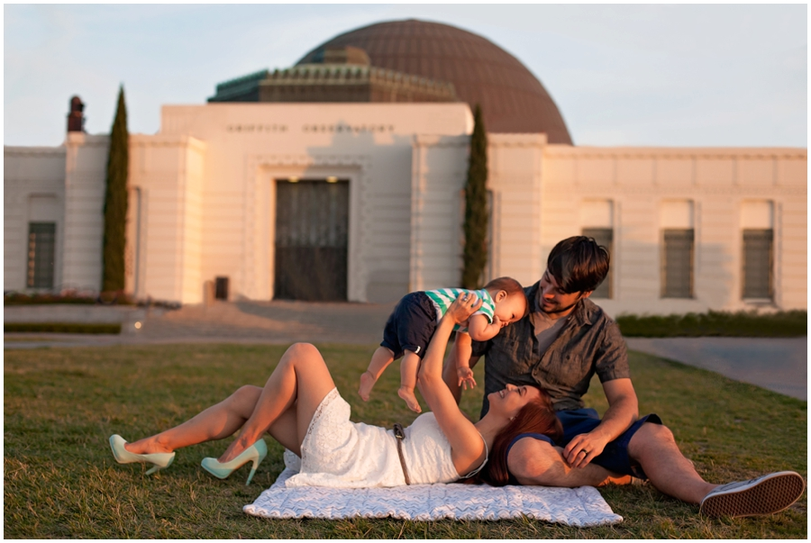 Family Portraits at Griffith Observatory by Just Maggie Photography -- Los Angeles Family Photographer