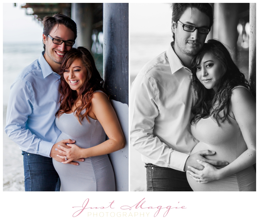 Romantic Beach Maternity Portraits by Just Maggie Photography - Los Angeles Maternity and Newborn Photographer