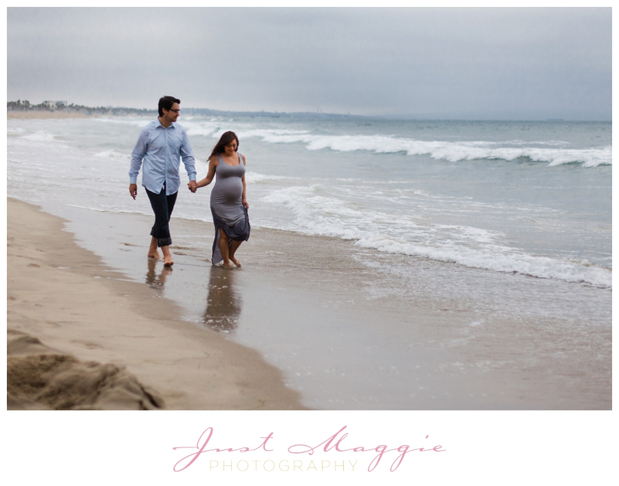 Stormy Beach Maternity Portraits by Just Maggie Photography - Los Angeles Maternity and Newborn Photographer