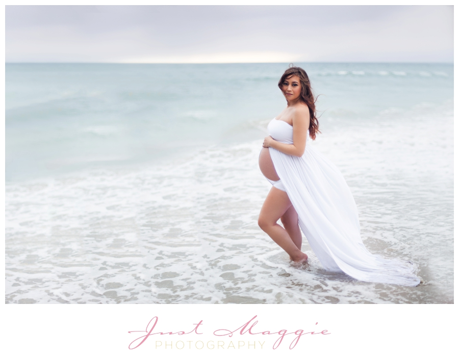 Stunning Beach Maternity Portraits by Just Maggie Photography - Los Angeles Maternity and Newborn Photograph