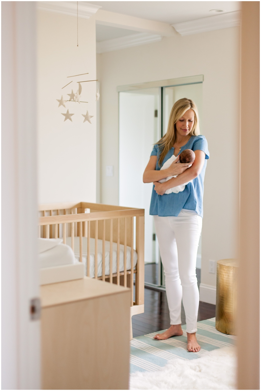 Newborn in Modern Nursery by Just Maggie Photography - Los Angeles Newborn Photographer