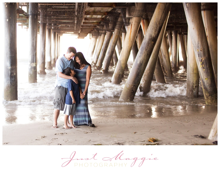 Family Portraits at the Beach by Just Maggie Photography - Los Angeles Family Photographer