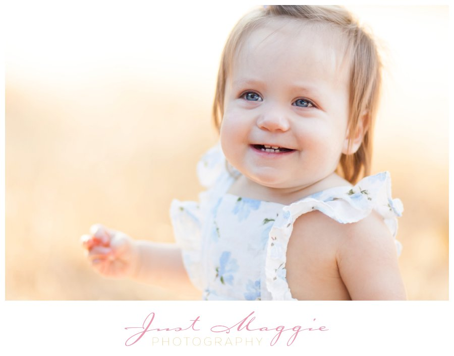 Outdoors One Year Old Portraits by Just Maggie Photography - Los Angeles Baby's First Year Photographer