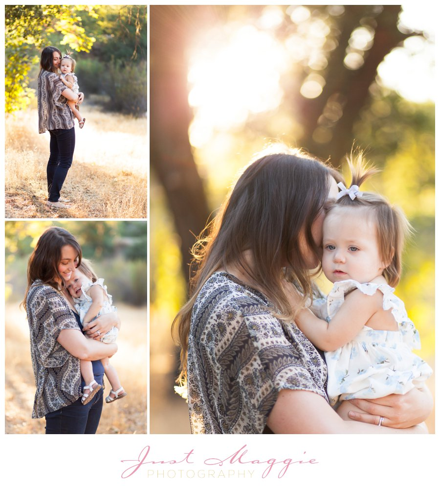 Outdoors One Year Old Portraits by Just Maggie Photography -