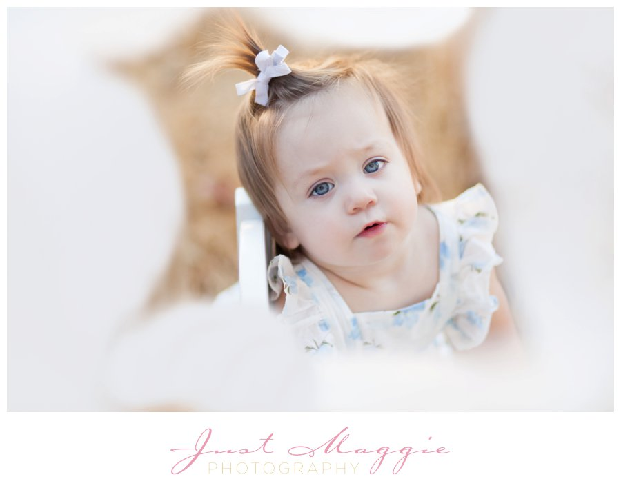 One Year Old Balloon Portraits by Just Maggie Photography - Los Angeles Baby's First Year Photographer