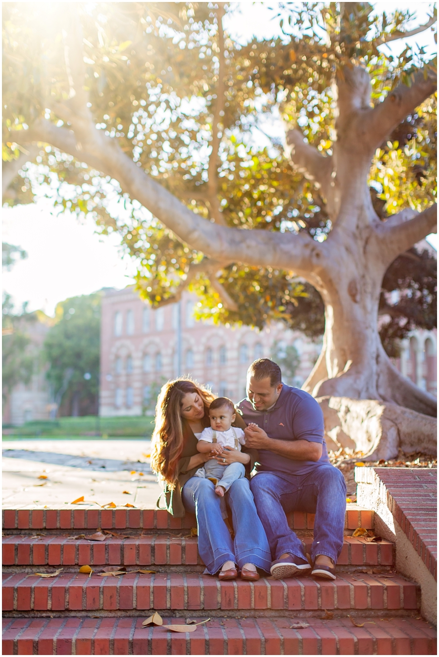 9 Month Old with Mom and Dad by Just Maggie Photography - Los Angeles Baby Photographer