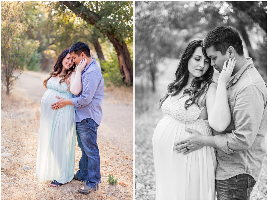 Romantic Woodsy Maternity Portraits by Just Maggie Photography - Los Angeles Maternity & Baby Photographer