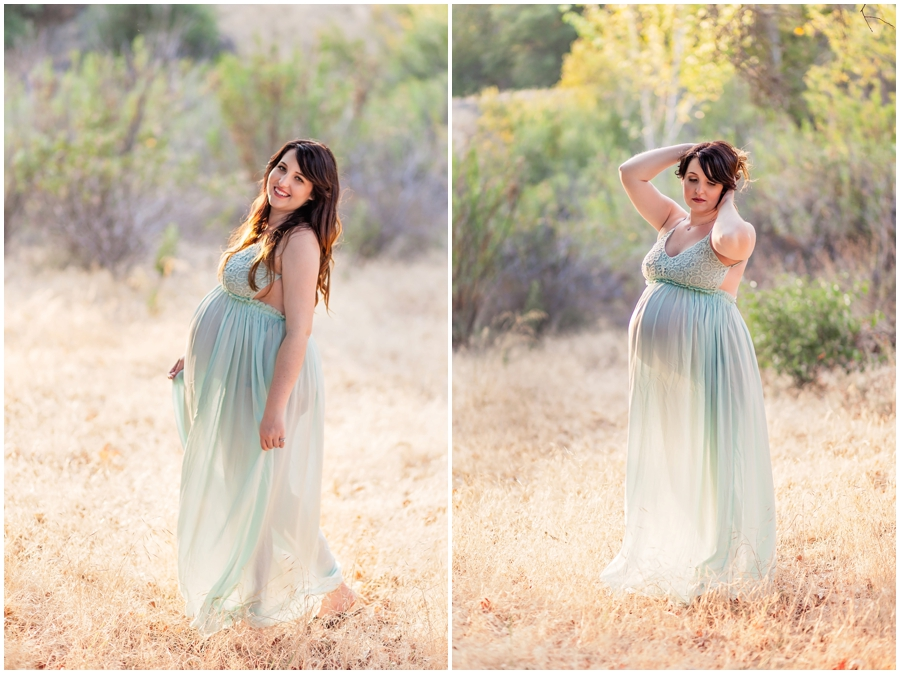 Romantic Woodsy Maternity Portraits by Just Maggie Photogra