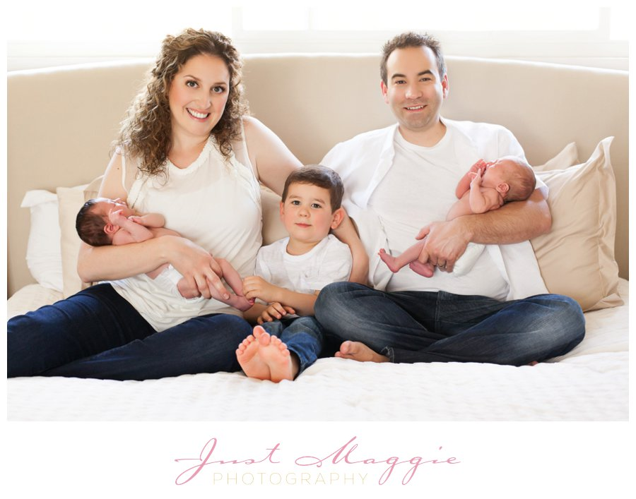 Newborn Family Photos Twins