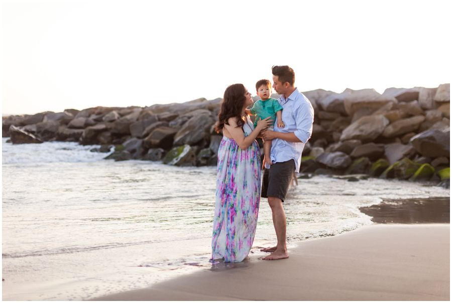 Family Maternity Portrait by Just Maggie Photography - Los Angeles Maternity Photographer