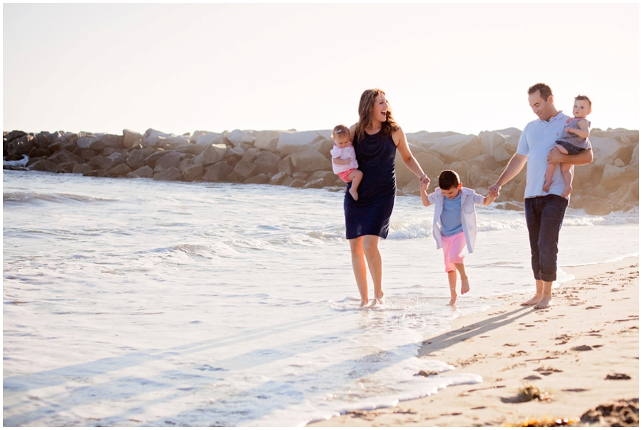 Family portraits at the beach by Just Maggie Photography -- Los Angeles Family Photographer
