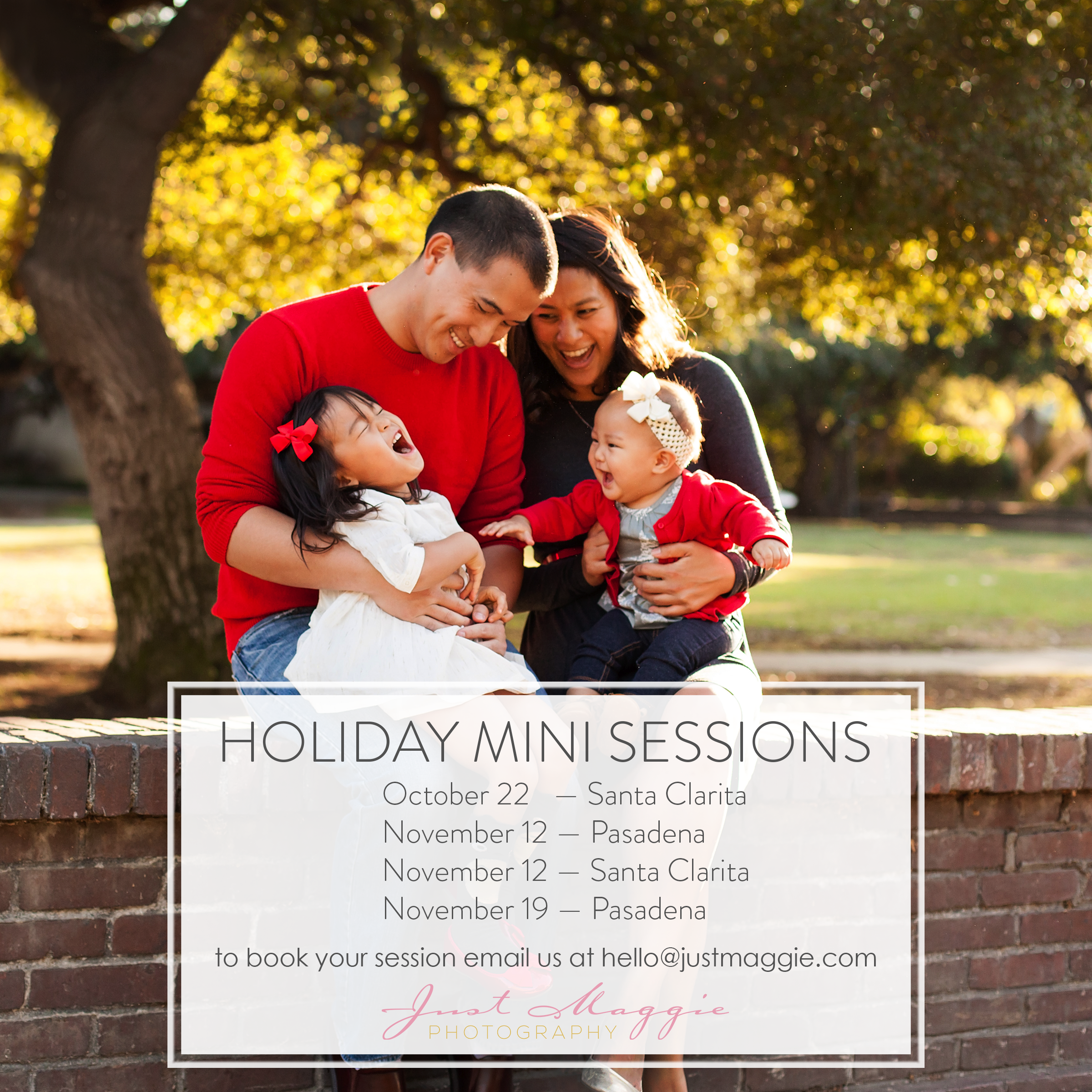 2016 Holiday Mini Sessions with Just Maggie Photography - Los Angeles Family Photographer