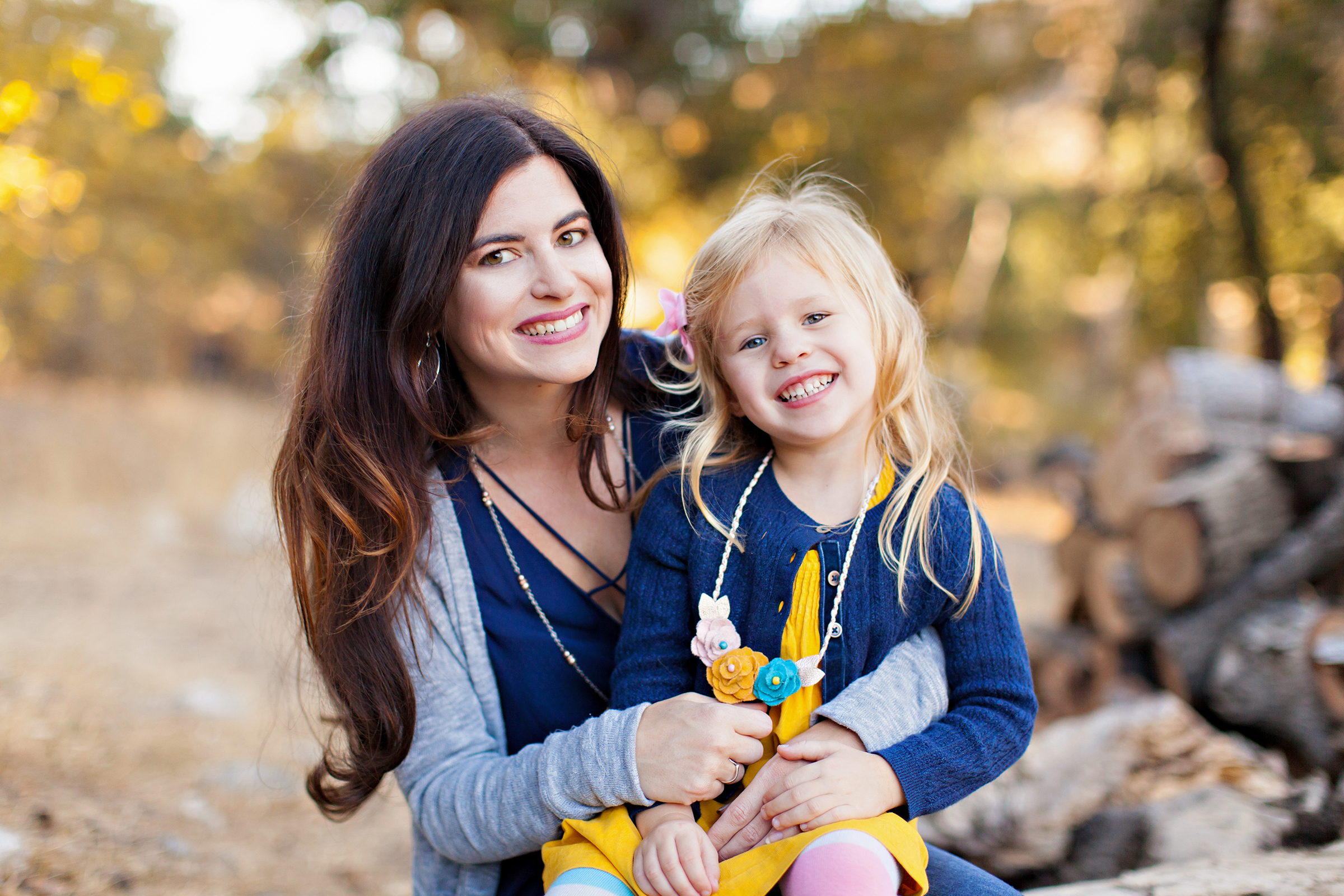 Mom and Daughter Fall Family Portraits by Just Maggie Photography Los Angeles Family Photographer