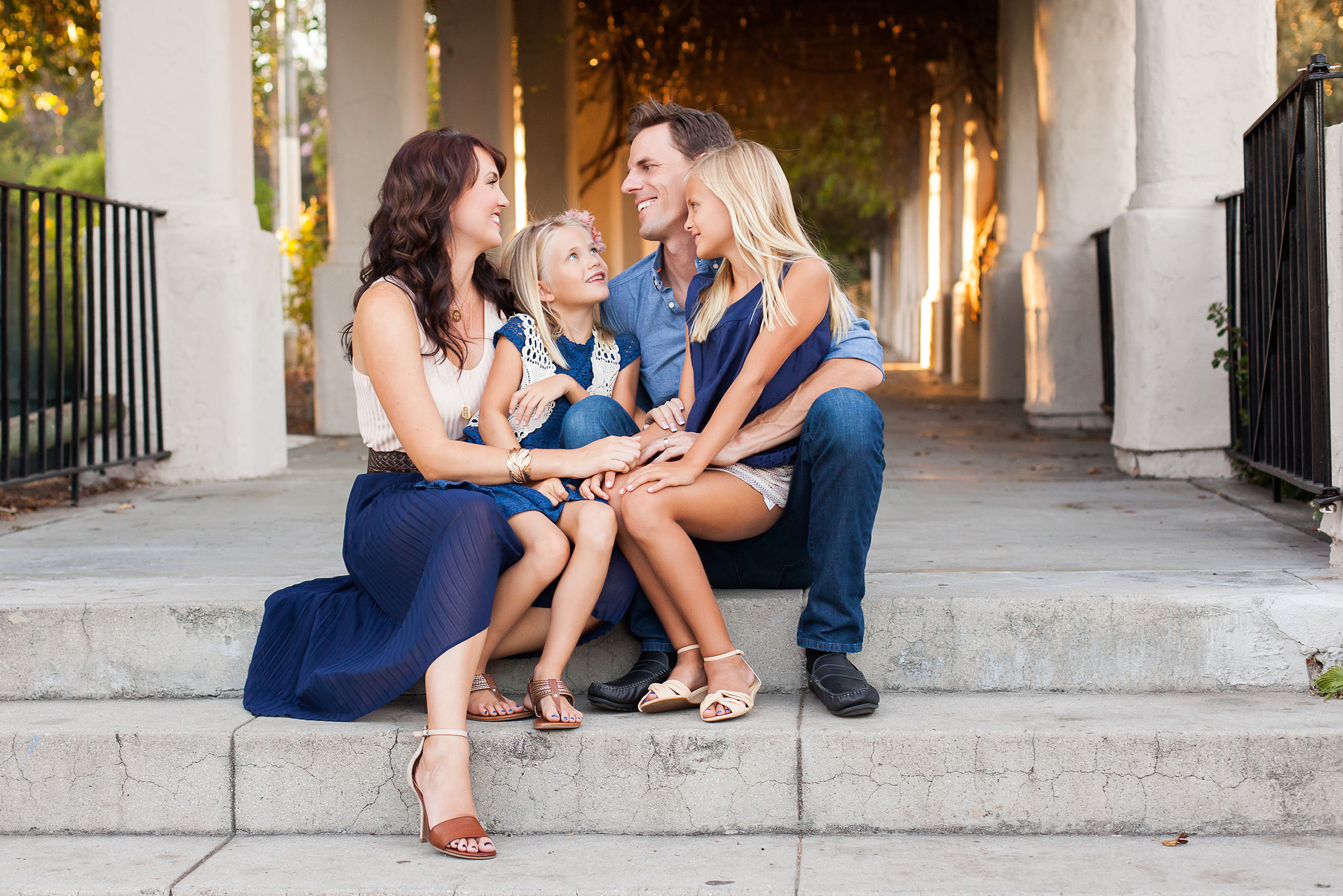 Garden Family Portraits by Just Maggie Photography Los Angeles Family Photographer