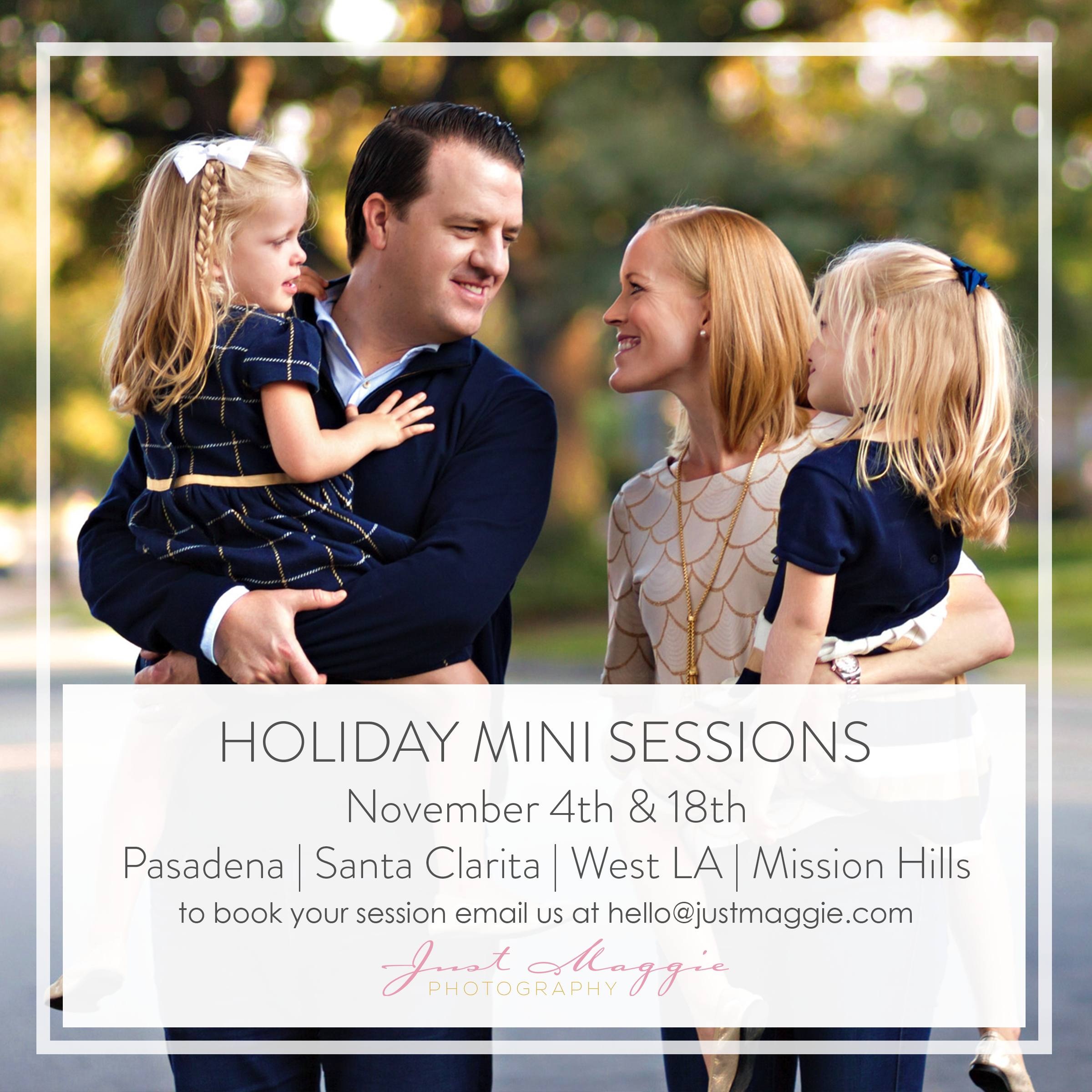 Holiday Mini Sessions by Just Maggie Photography - Los Angeles Family Photographer