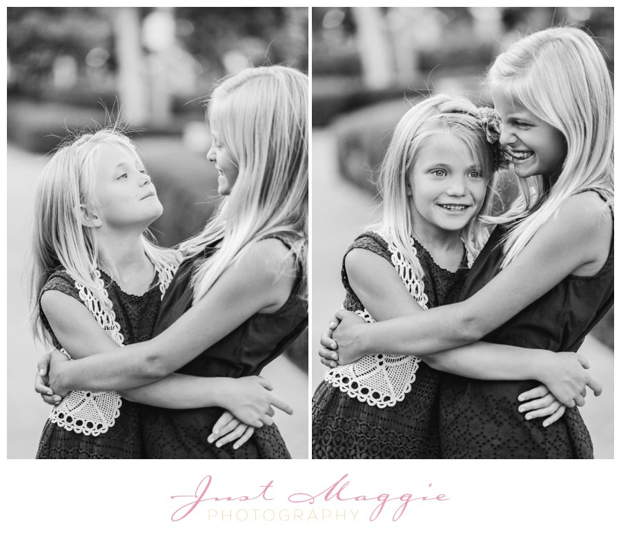 Natural Sister Sibling Portraits by Just Maggie Photography - Los Angeles Family Portrait Photographer