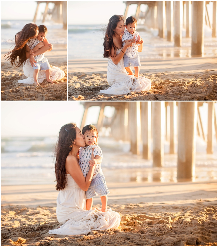 Family Pictures In The Beach: Santa Monica Family Photographer