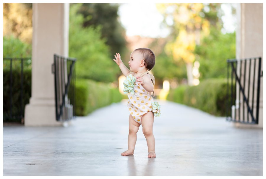 One Year Walking Portraits by Just Maggie Photography - Los Angeles Baby Photographer