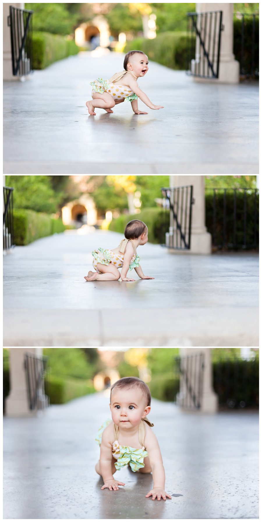 One Year Old Crawling Portraits by Just Maggie Photography - Los Angeles Baby Photographer